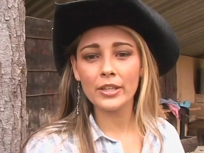This pretty Latina country girl has a smoking hot fleshy backside thats made to ride dicks like rodeos. The clip begins with lovely Alison doing a little interview and end up taking her clothes off in front of the camera while a guy admires her sultry booty.