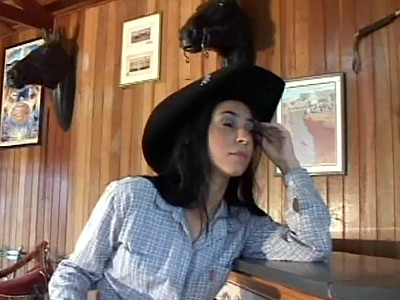 Latina cutie Carol Fonseca came in dressed as a cowgirl She starts posing in front of the camera and then this hunk joined her and urged her into undressing in front of the camera She obliged and spread her legs on a bar stool while the guy ate out her snatch